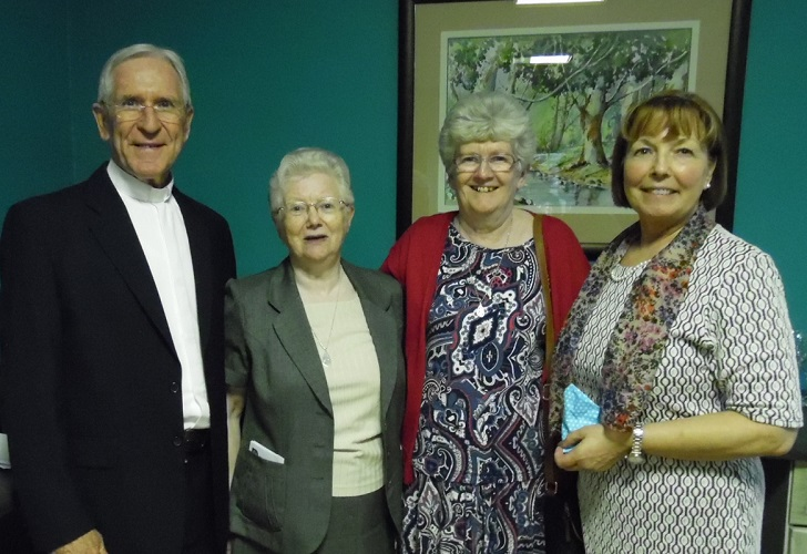 Bishop Kevin, Sr Kathleen, Sr Ann & Mrs Vickers